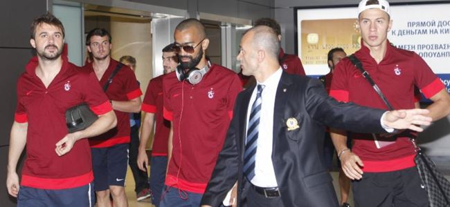 Trabzonspor kafilesi Lefkoşa'da
