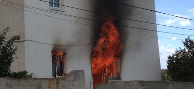 Akıncılar'da ev yangını