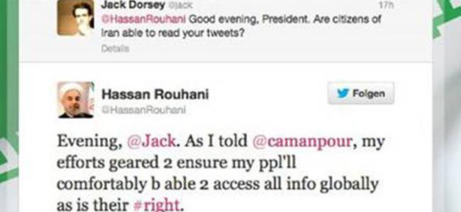 Ruhani, Twitter'ın kurucusuna mesaj attı
