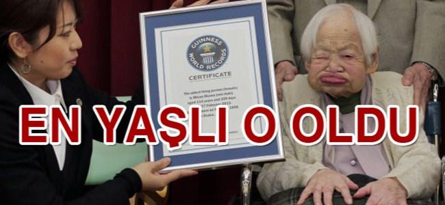 Dünyanın en yaşlı kadını!