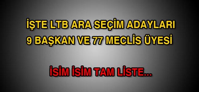 YSK LTB adaylarının geçici listesini açıkladı