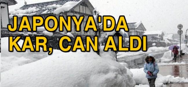 Japonya'da kar, can aldı