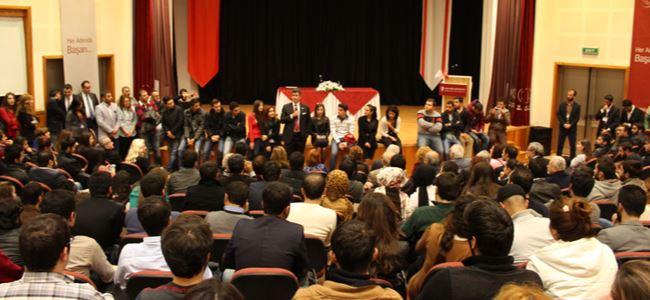 Türkiye barolar birliği başkanı YDÜ'de konferans verdi