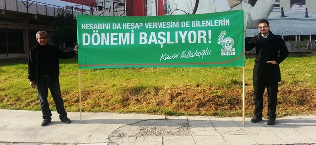 CTP-BG adayları bildiri dağıttı