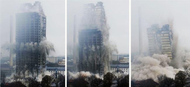 Avrupa'nın en yüksek yapısı yıkıldı!