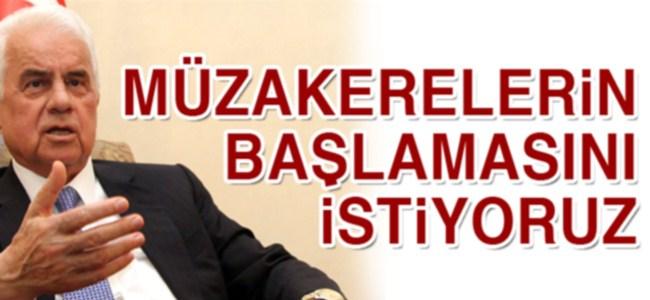 """Eroğlu: """"Müzakerelerin başlamasını istiyoruz"""""""