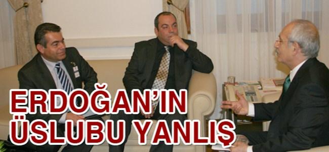 Erdoğan'ın üslubu yanlış