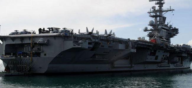 ABD savaş uçağı gemisi Akdeniz'de demirledi
