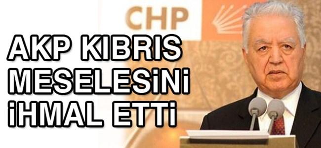 Loğoğlu: `İktidar Kıbrıs meselesini ihmal etti`