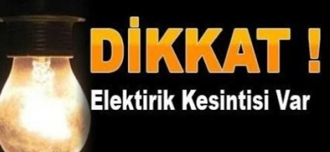 Photo of DİKKAT! Elektrik kesintisi var!