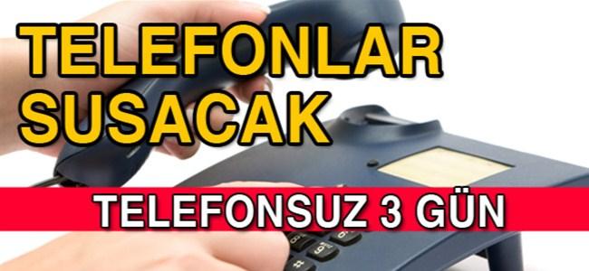 Mağusa'da telefonlar  22, 23 ve 24 Mart'ta servis dışı olacak