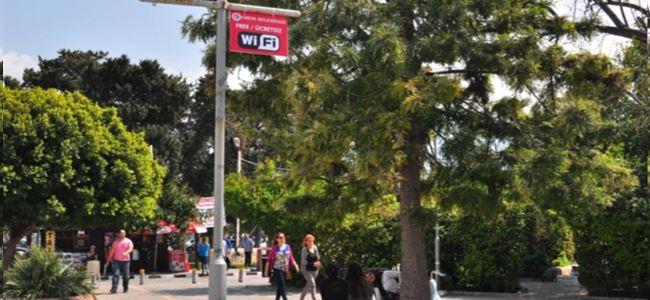 Girne Belediyesi'nin ücretsiz internet servisi sürüyor