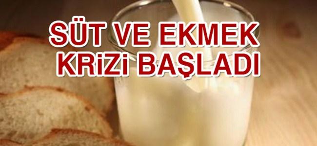 Süt ve ekmek krizi başladı