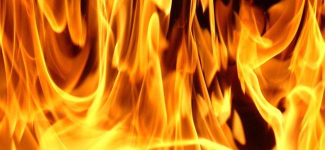 Prizde unutulan ütü yangın çıkarttı