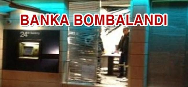 Kıbrıs'ta bankaya bombalı saldırı!