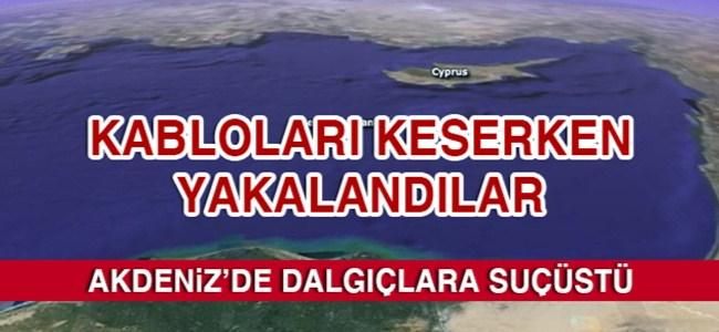 Akdeniz'de dalgıçlara suçüstü