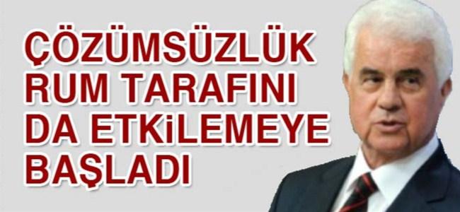 """Eroğlu: """"Çözümsüzlük Rum tarafını da etkilemeye başlamıştır"""""""