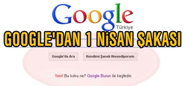 Google'dan 1 Nisan Şakası