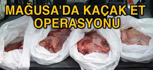 Mağusa'da kaçak et operasyonu