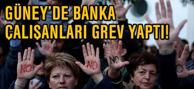 Güney'deki banka çalışanlarından iki saatlik uyarı grevi…