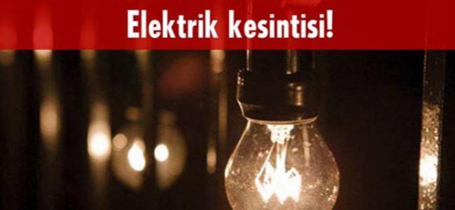 Yarın bazı köylere elektrik verilemeyecek!