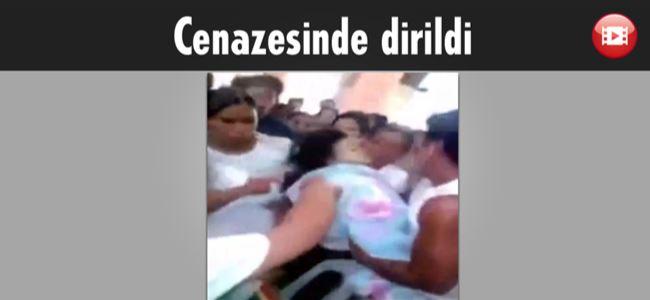 Minik kız cenazede dirildi (Video)
