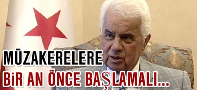 """Eroğlu, """"Müzakereler En Geç Mayıs Ayında Yeniden Başlamalı"""""""