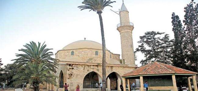 Hala Sultan Tekkesi'nde bayram namazı kılındı