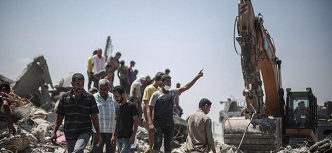 Gazze'de ölü sayısı bin 943'e yükseldi