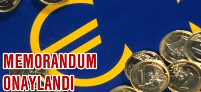 Euro Grubu, Memorandumu Onayladı…