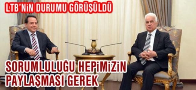 Cumhurbaşkanı Eroğlu LTB Başkanı Fellahoğlu'nu kabul etti