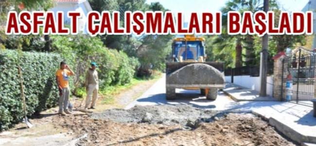 Girne Belediyesi asfaltlama çalışmalarına başladı