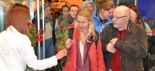 Danimarkalı turistlere VIP karşılama