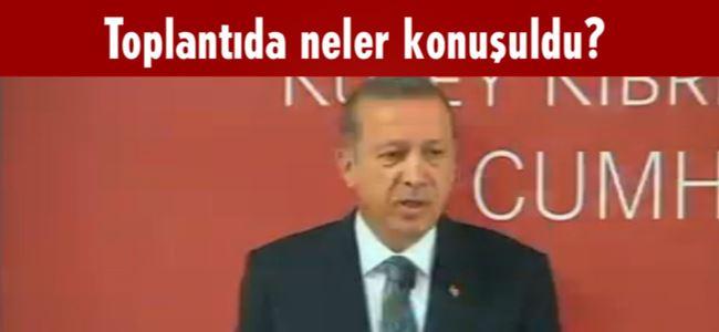 Eroğlu ve Erdoğan'dan basın toplantısı...