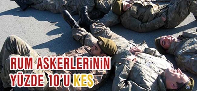 Rum Askerlerinin Yüzde 10'u Keş