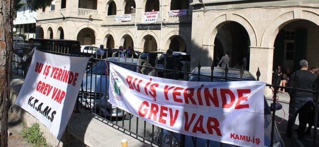 Girne  Mahkemesi'nde grev yapıldı