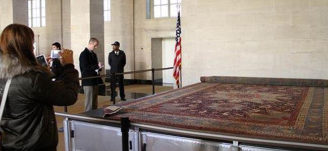 'Soykırım' halısı Beyaz Saray'da sergileniyor
