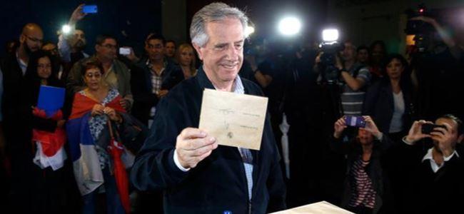 Uruguay'da solcu aday kazandı