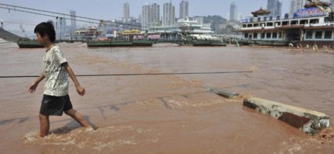 Çin'de Şiddetli Yağışlar 33 Ölü