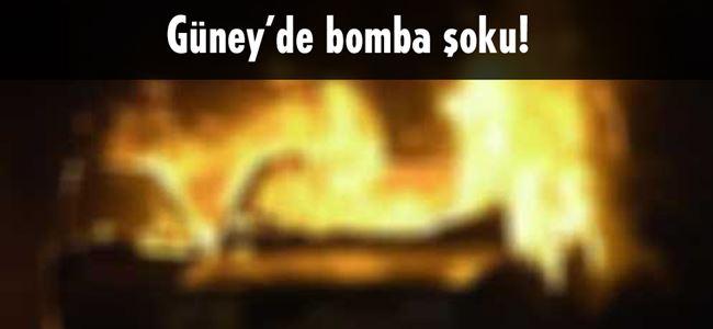 Güney'de el yapımı bomba patladı