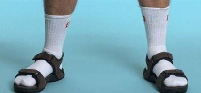 Çorapları çıkarın!