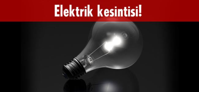 Photo of Dikkat! Elektrik kesintisi var