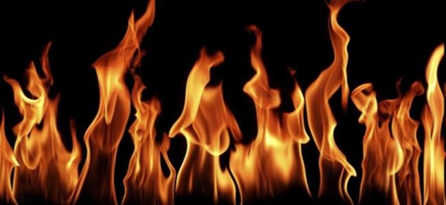 Dikmen ve Göçeri'de arazi yangını