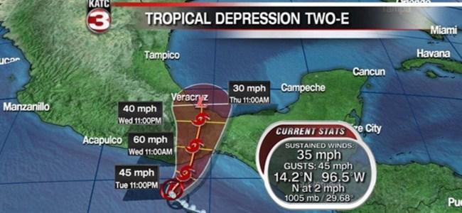 Barbara'nın hedefinde Meksika kıyıları