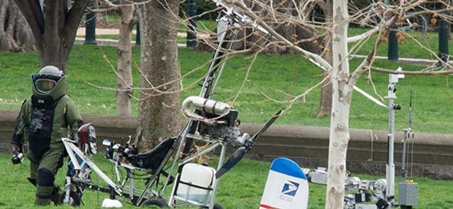 ABD Kongresi'ne helikopterle indi