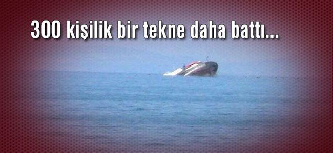 Akdeniz'de bir göçmen teknesi daha battı
