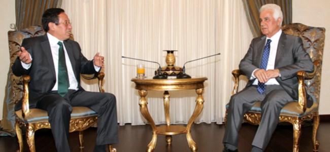 Cumhurbaşkanı Eroğlu Bankalar Birliği yetkililerini kabul etti