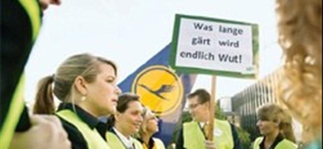 Lufthansa grevinde bin sefer iptal