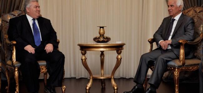 Cumhurbaşkanı Eroğlu, tdp genel başkanı çakıcı'yı kabul etti