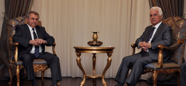 Cumhurbaşkanı Eroğlu, UBP Genel Başkanı Küçük'ü kabul etti